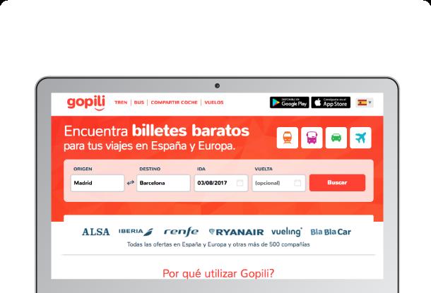 Gopili Versión desktop